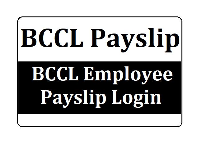BCCL Payslip Login