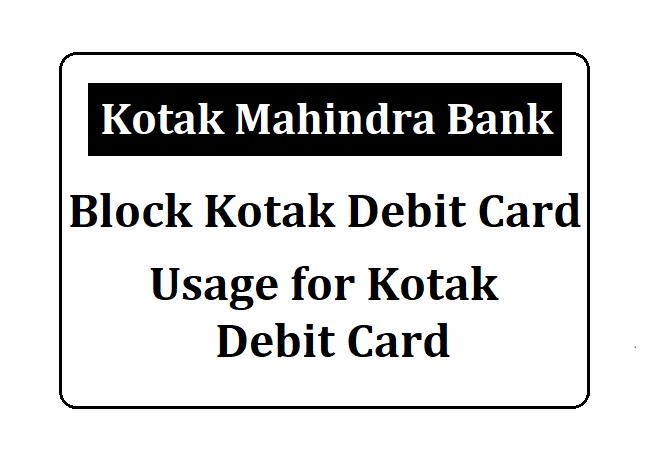 Kotak Mahindra Debit Card