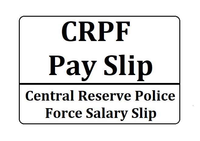 CRPF Pay Slip