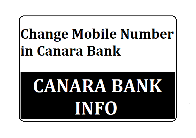 Register Mobile Number Canara