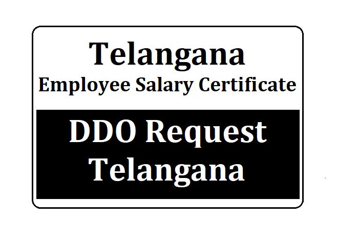 DDO Request Telangana