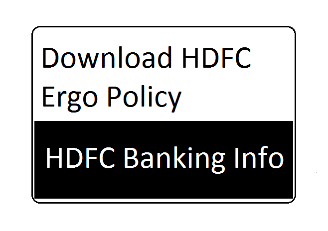 Download HDFC Ergo Policy