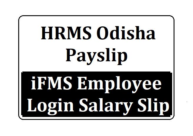 HRMS Odisha Salary Slip