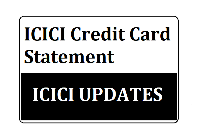 ICICI Credit Card Statement
