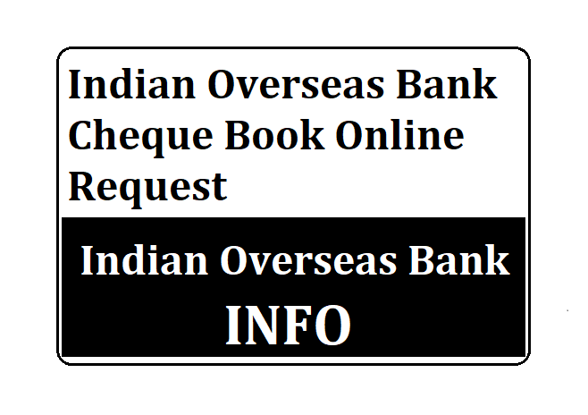 Indian Overseas Bank Cheque