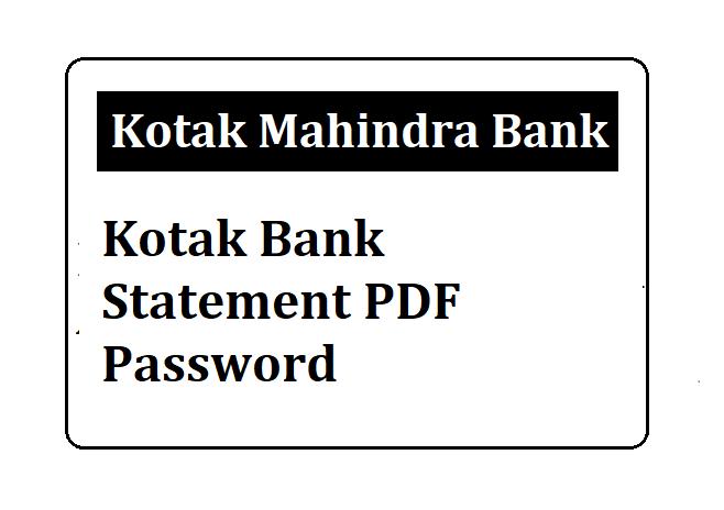 Kotak Mahindra Bank Mini Statement