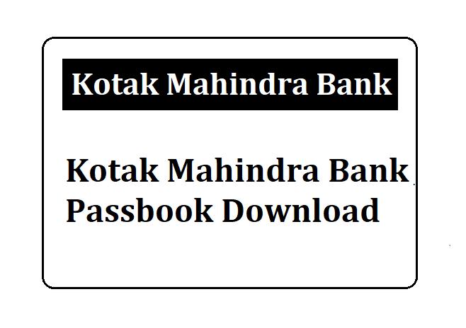 Kotak Mahindra Bank Passbook