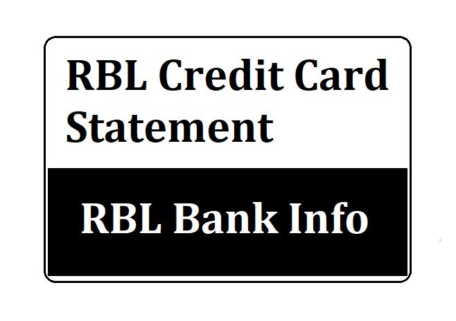 RBL Credit Card Statement