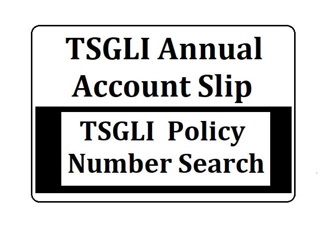 TSGLI Annual Account Slips