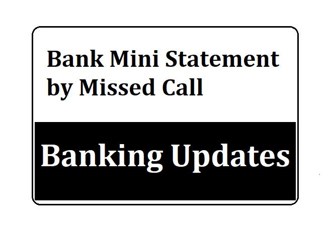 Corporation Bank Mini Statement