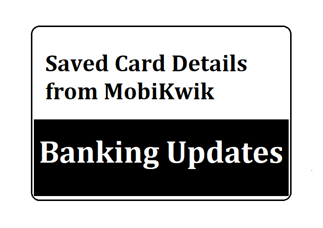 Saved Card Details from MobiKwik