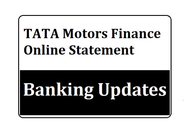 TATA Motors Finance Online Statement
